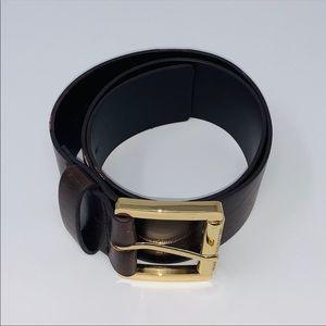 Michael Kors Brown and Gold Belt